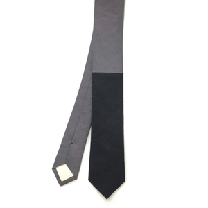 Colour Block Black and Grey Tie