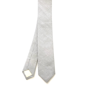 Light Grey Linen Tie