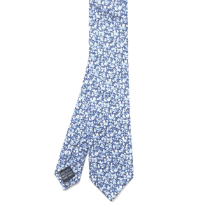 Blue Floral Cotton Tie