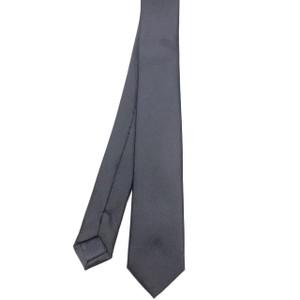 Skinny Grey Satin Tie