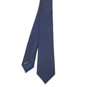 Skinny Navy Silk Tie