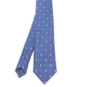 Marine Blue Patterned Tie