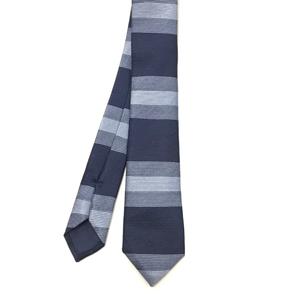 Horizontal Blue Stripe Tie