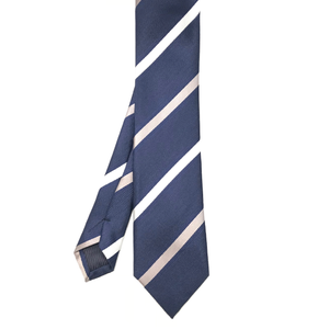 Striped Navy Tie