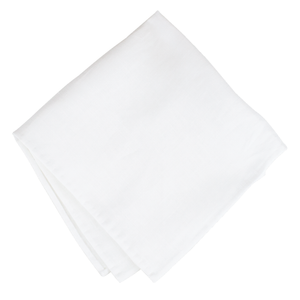White Silk Pocket Square