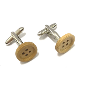 Wooden Button Cufflinks