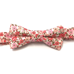 Pink Floral Baby Bow Tie