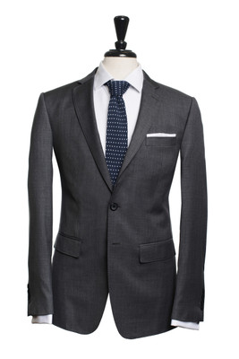 Dylan Dark Grey Sharkskin Suit