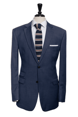Kenneth Intense Blue Sharkskin Suit
