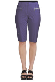 "81337- Aubergine  with Silver Trims Knee Capri - 24.5"" AIRWEAR"