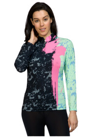 81141-brush stroke print sun shirt-221
