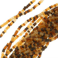 Czech Seed Beads 11/0 Matte Tortoise Mix (1 Hank)