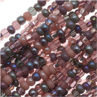 Czech Seed Beads 11/0 Mauve Whispers Mix (1 Hank)