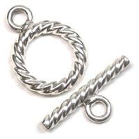 Sterling Silver 16mm Swirl Toggle Clasp