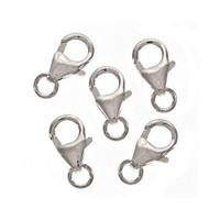 Sterling Silver Curved Lobster Clasps 10mm (2)