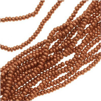 Czech Seed Beads 11/0 Copper Supra Metallic (1 Hank)