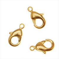 22kt Gold Plated Lobster Claw Clasps 10mm (10)