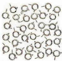 Silver Plated Spring Ring Clasps 6mm (25)