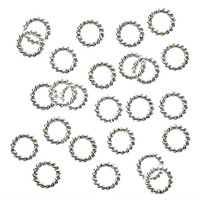 Silver Plated Twisted Open Jump Rings 6mm 18 Gauge (25)