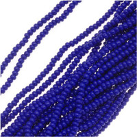 Czech Seed Beads Royal Blue Opaque 11/0  (1 Hank)