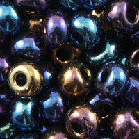 Czech Seed Beads 6/0 Jet AB (1 ounce)