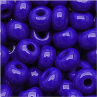 Czech Seed Beads 6/0 Royal Blue Opaque (1 ounce)