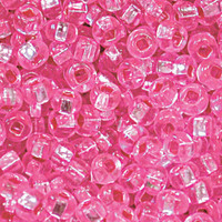Czech Seed Beads 8/0 Hot Pink Silver Lined  (1 ounce)