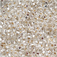 Czech Seed Beads 8/0 Crystal Silver Lined (1 ounce)