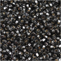 Czech Seed Beads 8/0 Black Diamond Silver Lined (1 ounce)
