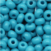 Czech Seed Beads 8/0 Blue Turquoise (1 ounce)
