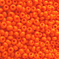 Czech Seed Beads 8/0 Orange Opaque (1 full hank)