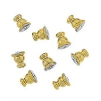 22Kt. Gold Plated Bullet Clutches  for Post Earrings (50)