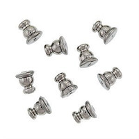 Silver Plated Bullet Clutches  for Post Earrings (50)