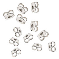 Sterling Silver 4mm Butterfly Clutch Earring Backs (20)