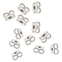 Sterling Silver 4mm Butterfly Clutch Earring Backs (20)
