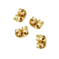22Kt. Gold Plated Earring Backs (Earnuts) (50)
