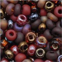 Czech Seed Beads 8/0 Chocolate Mud Pie (1 ounce)