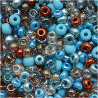 Czech Seed Beads 8/0 Turquoise Grotto (1 ounce)
