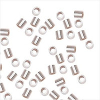 Sterling Silver Crimp Beads 2X2mm (100)