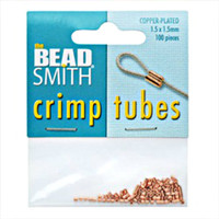Copper Plated Crimp Beads 1.5x1.5mm (100)