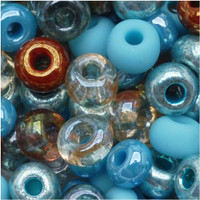 Czech Seed Beads 6/0 Turquoise Grotto (1 ounce)