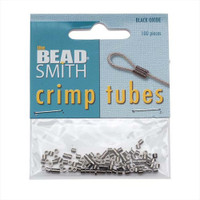 Gunmetal (Black Oxide) Crimp Beads 1.5x1.5mm (100)