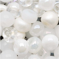 Czech Seed Beads 6/0 White Wedding Mix (1 ounce)