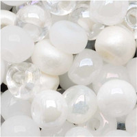 Czech Seed Beads 8/0 White Wedding Mix (1 ounce)