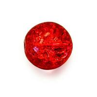 Czech Glass Druk 6mm Round Crackle Siam Ruby Red (50)