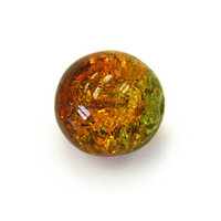 Czech Glass Druk 6mm Round Crackle Tropical Topaz (50)
