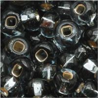 Czech Seed Beads 6/0 Black Diamond Silver Lined (1 ounce)