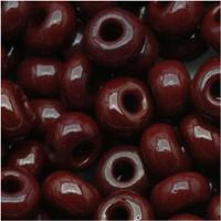 Czech Seed Beads 6/0 Dark Brown Opaque (1 ounce)