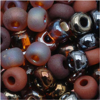 "Czech Seed Beads 6/0 ""Chocolate Mud Pie'' Mix (1 ounce)"