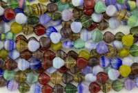 Czech Glass 9mm Shell Bead Hurricane Glass Shell Mix (25)
